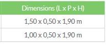 tableau dimension étagère - Étagère phyto  4 niveaux